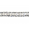 Fire polished Rondelle (Flat Round) 3/6mm Crystal Aurora Borealis Strung